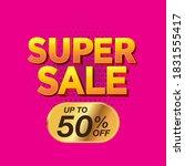 sale banner template design ... | Shutterstock .eps vector #1831555417