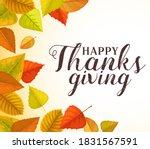 happy thanks giving vector... | Shutterstock .eps vector #1831567591