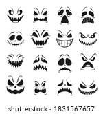 monster faces vector set of... | Shutterstock .eps vector #1831567657