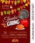 thanksgiving party vector flyer ... | Shutterstock .eps vector #1831567687