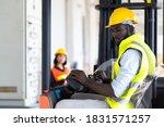 Warehouse Man Worker Driver...