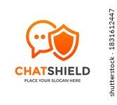 chat shield vector logo... | Shutterstock .eps vector #1831612447