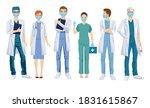 group of doctors in medical... | Shutterstock .eps vector #1831615867