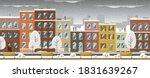 facades of city buildings in... | Shutterstock .eps vector #1831639267