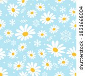 seamless pattern of daisies...   Shutterstock .eps vector #1831668004