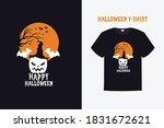 happy halloween vector print...   Shutterstock .eps vector #1831672621