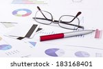 business still life of pen ... | Shutterstock . vector #183168401
