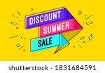discount summer sale. 3d sale...   Shutterstock .eps vector #1831684591