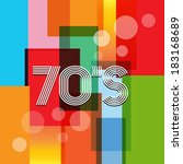 vector 70's art background | Shutterstock .eps vector #183168689