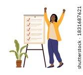 business woman checklist.... | Shutterstock .eps vector #1831687621