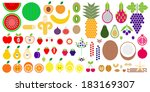 fruits icon set | Shutterstock .eps vector #183169307