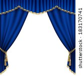 theater stage  with blue... | Shutterstock .eps vector #183170741