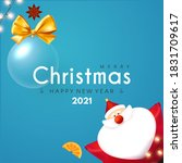 merry christmas and happy new... | Shutterstock .eps vector #1831709617