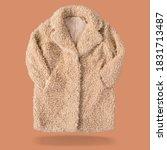 Women\'s Yellow Fur Coat Made O...