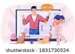 social media post about love...   Shutterstock .eps vector #1831730524