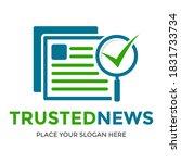 trusted news vector logo... | Shutterstock .eps vector #1831733734