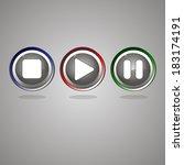 set of buttons | Shutterstock .eps vector #183174191