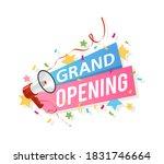 grand opening banner. promo...   Shutterstock .eps vector #1831746664