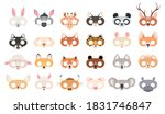 animal mask set. photo booth...   Shutterstock .eps vector #1831746847