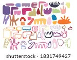 hand drawn various colorful... | Shutterstock .eps vector #1831749427