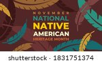 native american indian heritage ...   Shutterstock .eps vector #1831751374