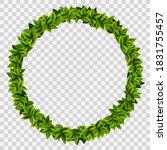 ring garland of green leaves....   Shutterstock .eps vector #1831755457
