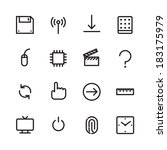 thin line icons for interface....