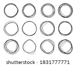 super set of circles lines...   Shutterstock .eps vector #1831777771