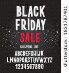 black friday font. typography... | Shutterstock .eps vector #1831787401