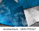 grunge abstract tech backgroud... | Shutterstock .eps vector #1831795267