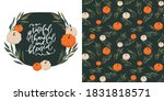 Pumpkin Seamless Pattern And...