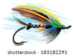 fishing lure | Shutterstock .eps vector #183182291