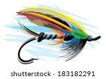 fishing lure | Shutterstock .eps vector #183182291