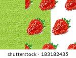 two light green mosaic pattern... | Shutterstock .eps vector #183182435