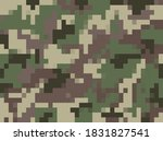 modern digital pixel camouflage ... | Shutterstock .eps vector #1831827541