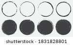 set of grunge circles.vector... | Shutterstock .eps vector #1831828801