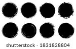 set of grunge circles.vector... | Shutterstock .eps vector #1831828804