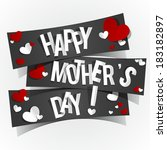 creative happy mother's day... | Shutterstock .eps vector #183182897