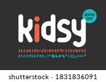 fun and childish playful font.... | Shutterstock .eps vector #1831836091