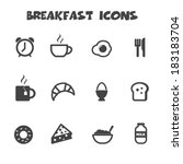 breakfast icons  mono vector... | Shutterstock .eps vector #183183704
