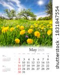Calendar May 2021  Vertical B3...