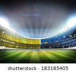 lights at night and stadium | Shutterstock . vector #183185405