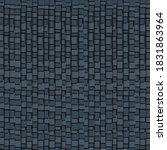 dark blue squares geometric... | Shutterstock .eps vector #1831863964
