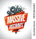 massive discounts sale vector... | Shutterstock .eps vector #1831864681