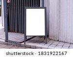 large blank billboard on a... | Shutterstock . vector #1831922167