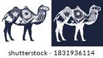 camel tattoo art. ancient egypt ... | Shutterstock .eps vector #1831936114