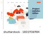 business topics   project...   Shutterstock .eps vector #1831936984
