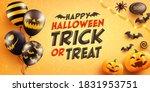 halloween poster and banner... | Shutterstock .eps vector #1831953751