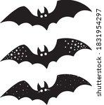 halloween bat set  cute bats... | Shutterstock .eps vector #1831954297