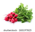 Fresh Red Radish Isolated On...